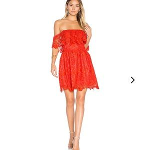NWT Lovers + Friends Dream Vacay lace OTS dress